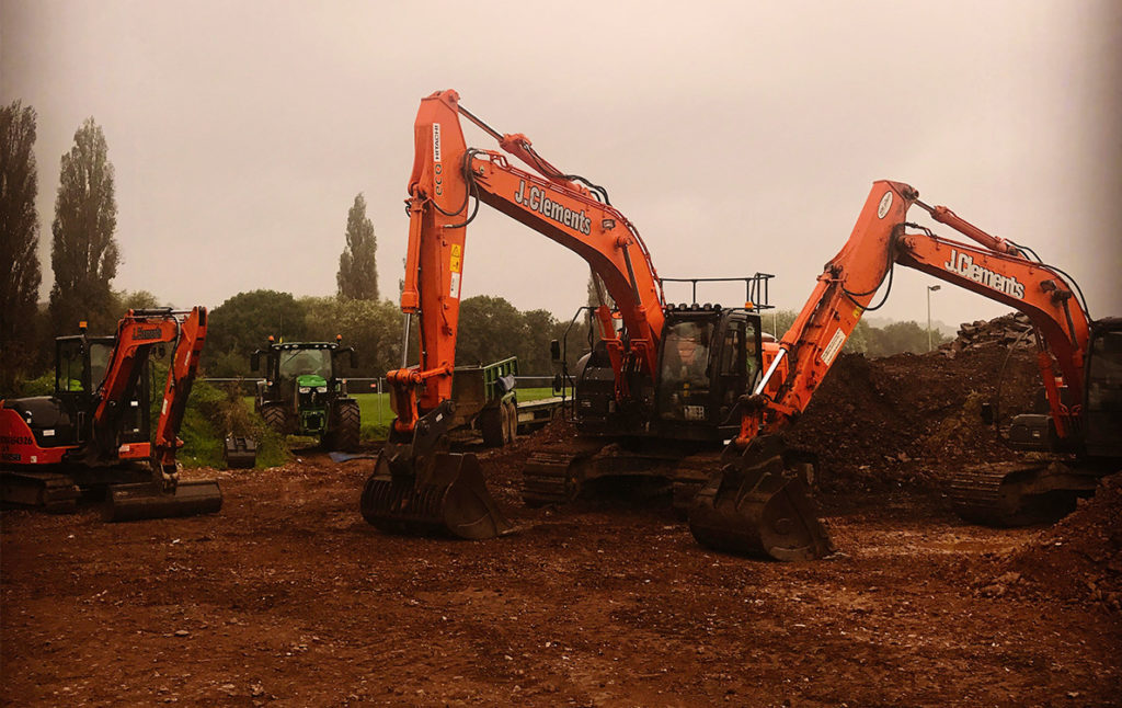 digger hire in Devon